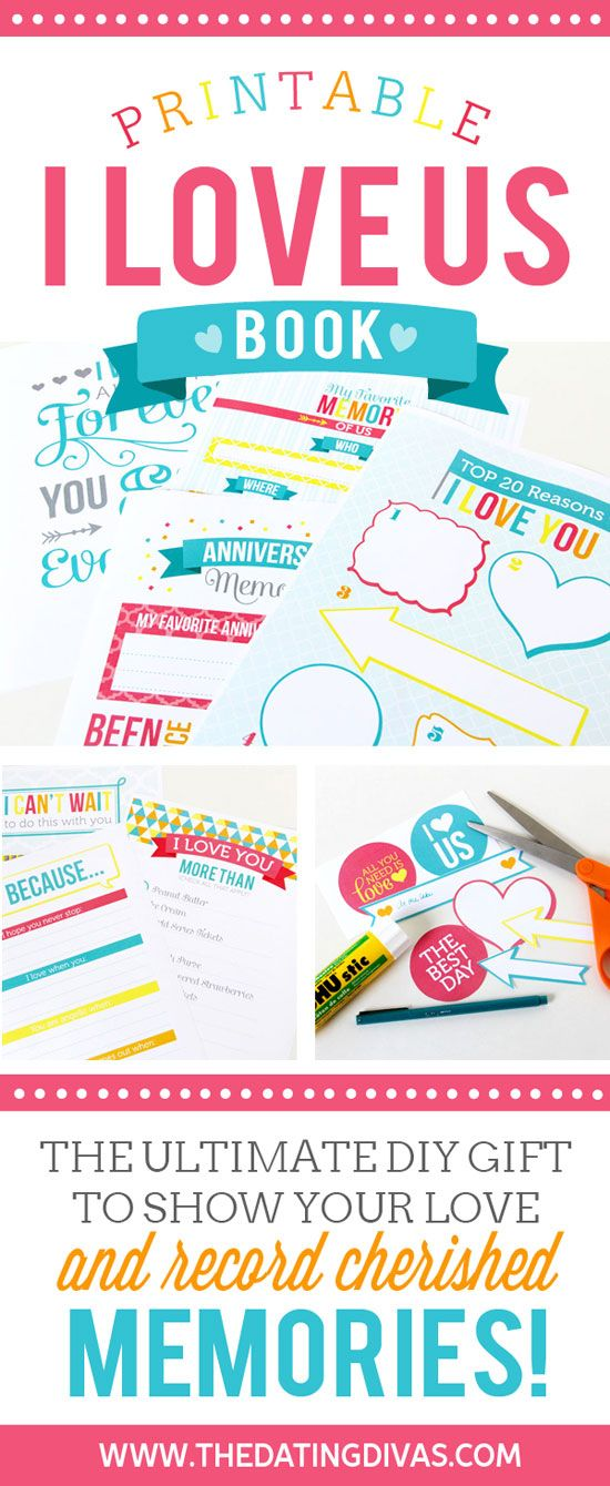 DIY Gift I Love Us Printable Book Birthday gifts, Anniversaries - free printable anniversary cards for her