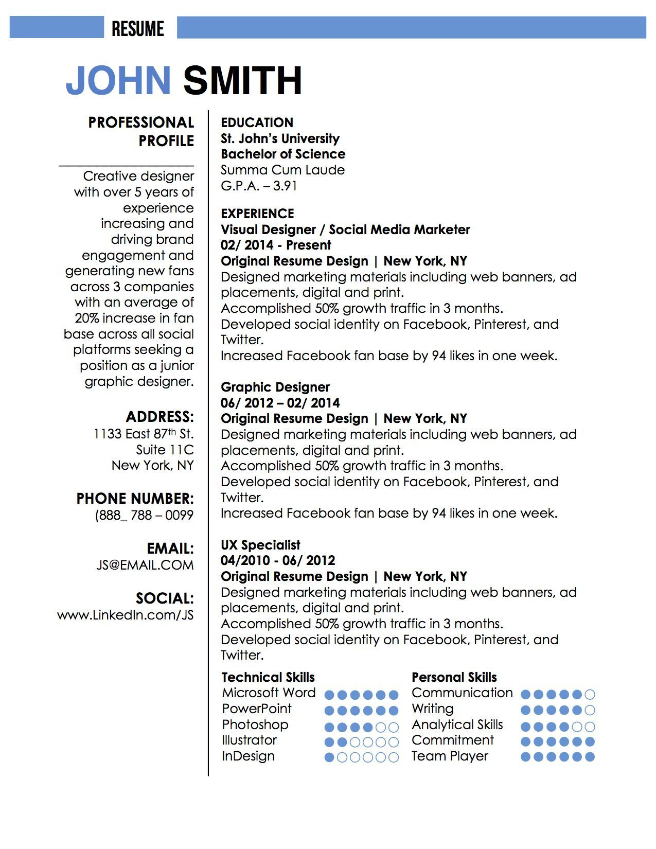 John Smith Resume | Writing | Pinterest | John smith