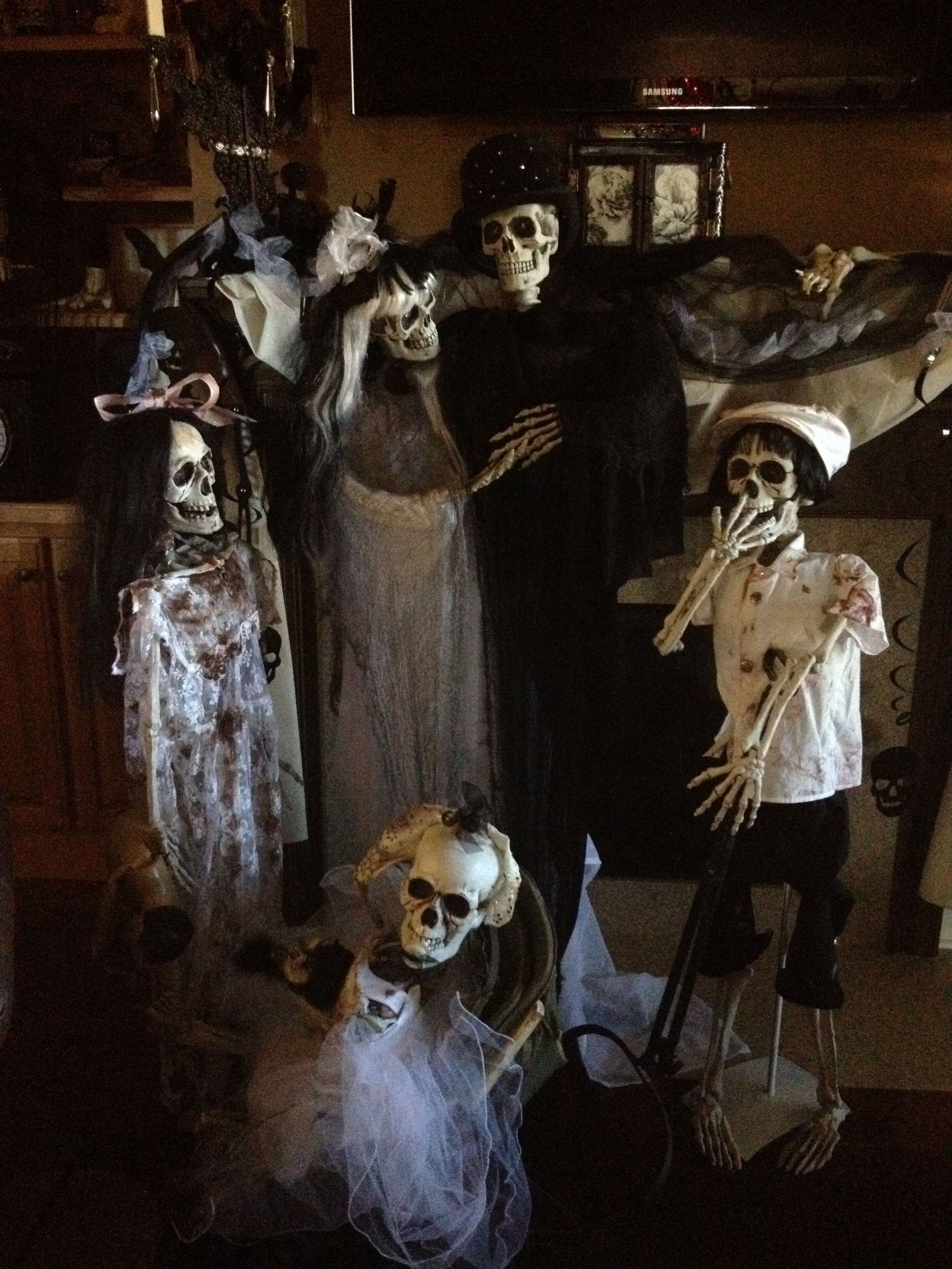 My mom works hard on her Halloween stuff every year. It is