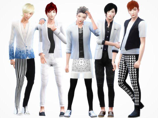 Sims 4 CC's - The Best: Male Poses by De-lvia