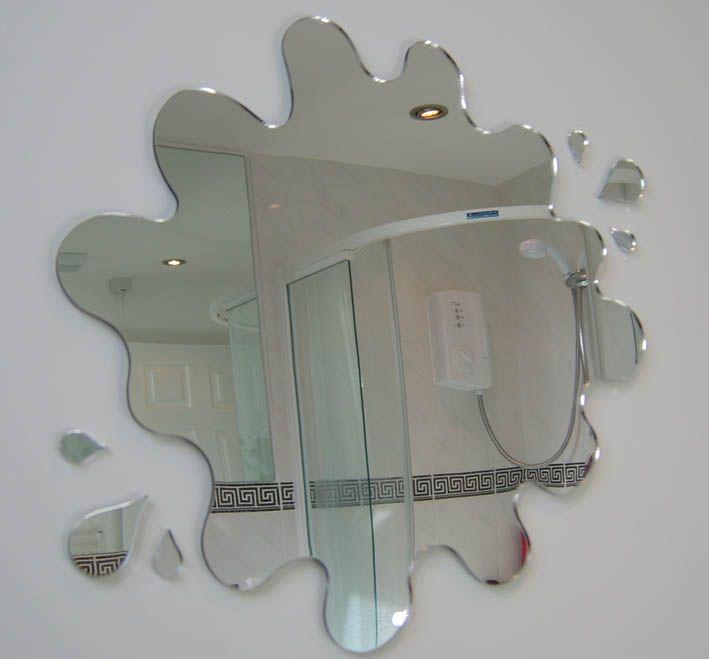 Creative Bathroom Mirror Shape Design Unique Bathroom Mirrors