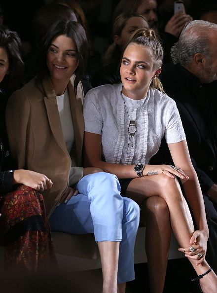 02.22.15: Kendall& Cara at the Topshop Unique fashion show in London