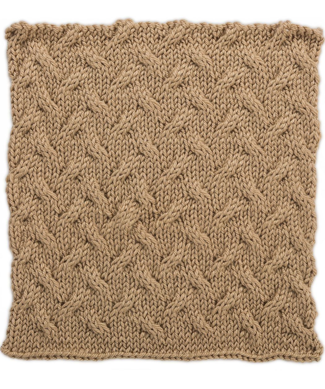 Knitting Bias Stockinette : Stockinette cables square for knit your afghan