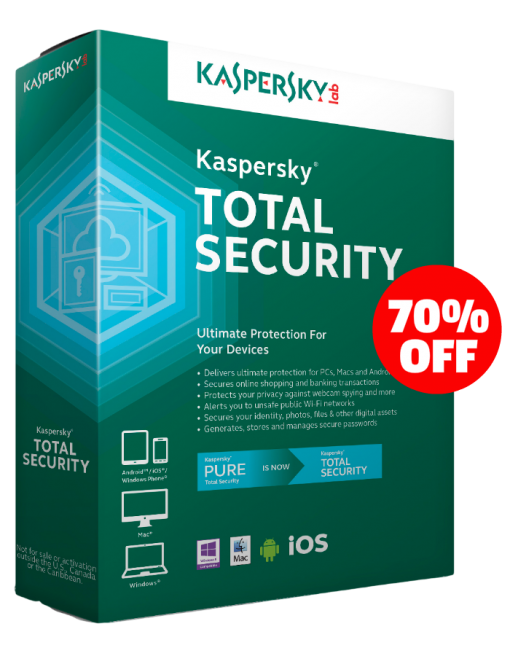 Kaspersky Total Security Multi Device 3 Device 1 Year Pc Mac Android Download Password Manager Good Passwords Password Security