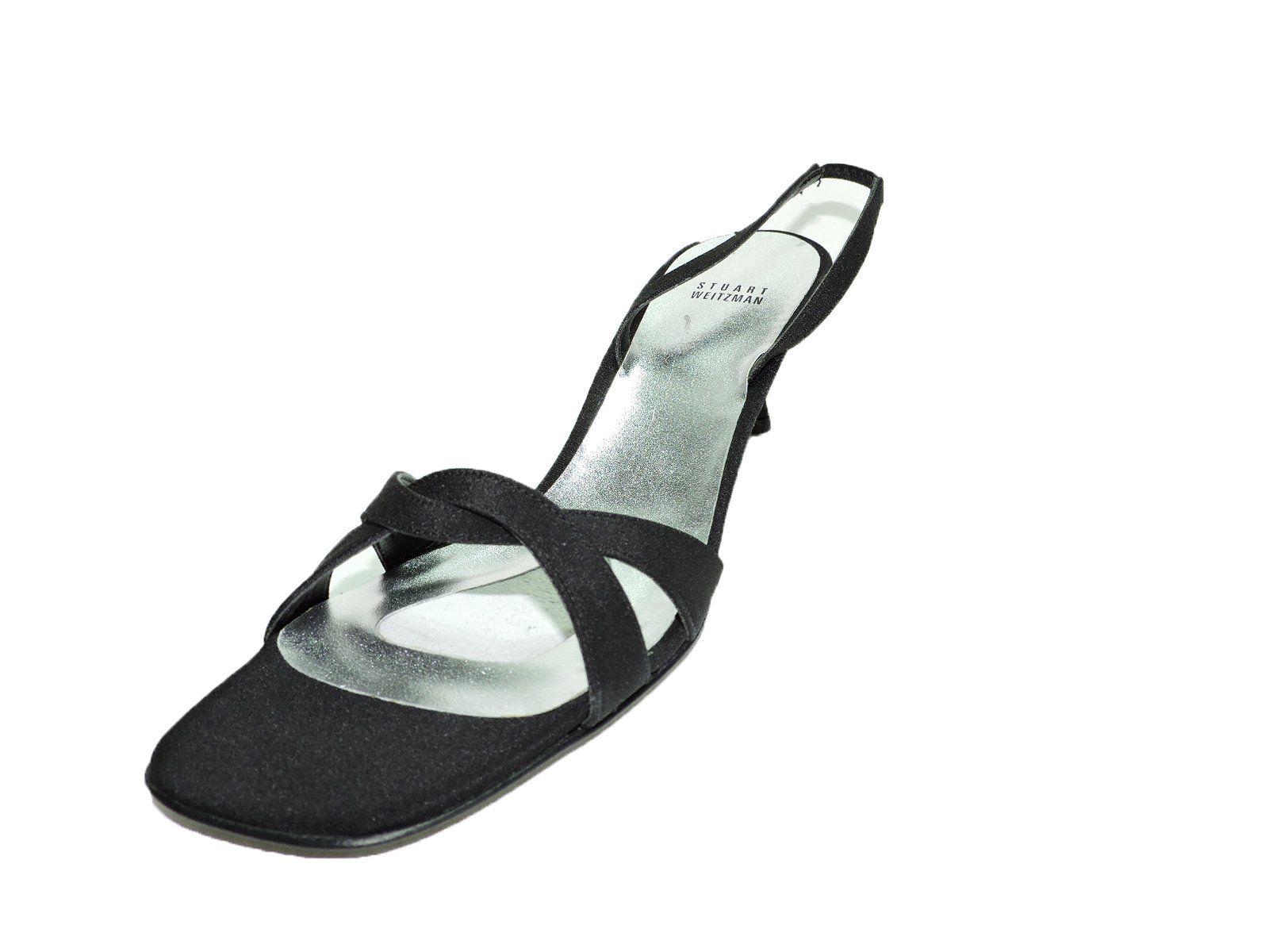Womens sandals in size 12 - Stuart Weitzman Womens Waves Black Strappy Fabric Heels Sandals Open Toe Size 12 N