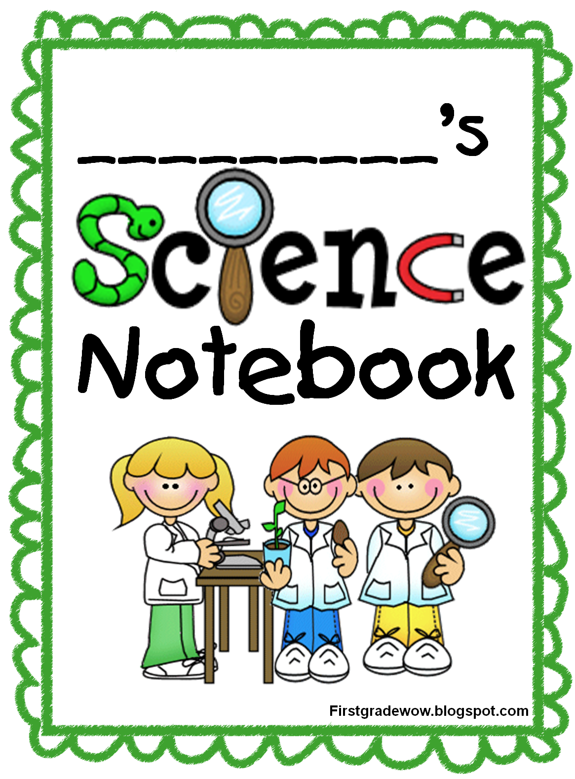 kids science notebook start up pack 8 page free printable last