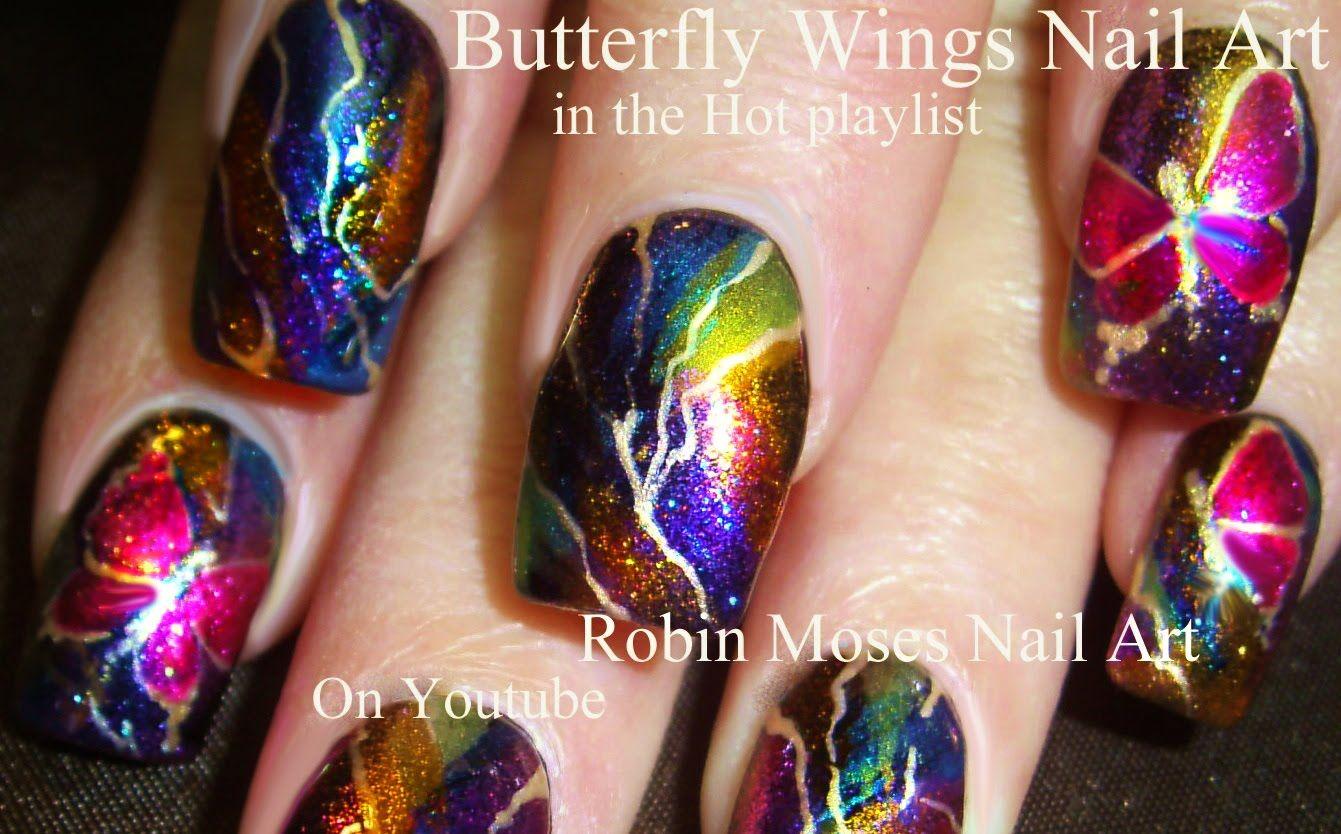 Hot Nails! Easy Rainbow LIGHTINING Nail Art Design Tutorial ...