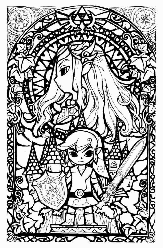 Legend Of Zelda Coloring Book Cool Coloring Pages Coloring Books Coloring Pages
