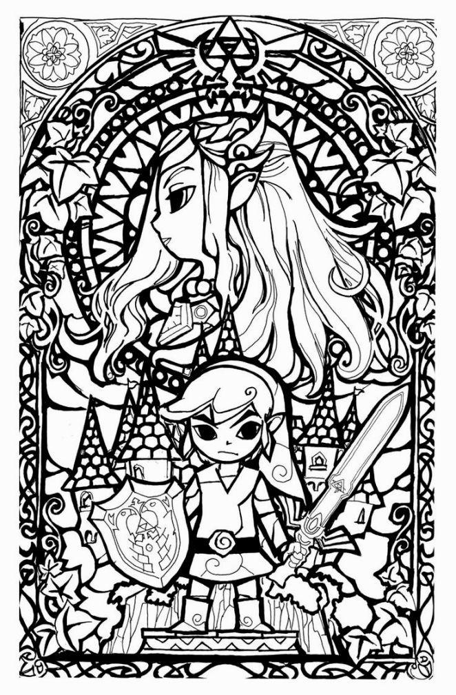 legend of zelda coloring book - Zelda Coloring Pages
