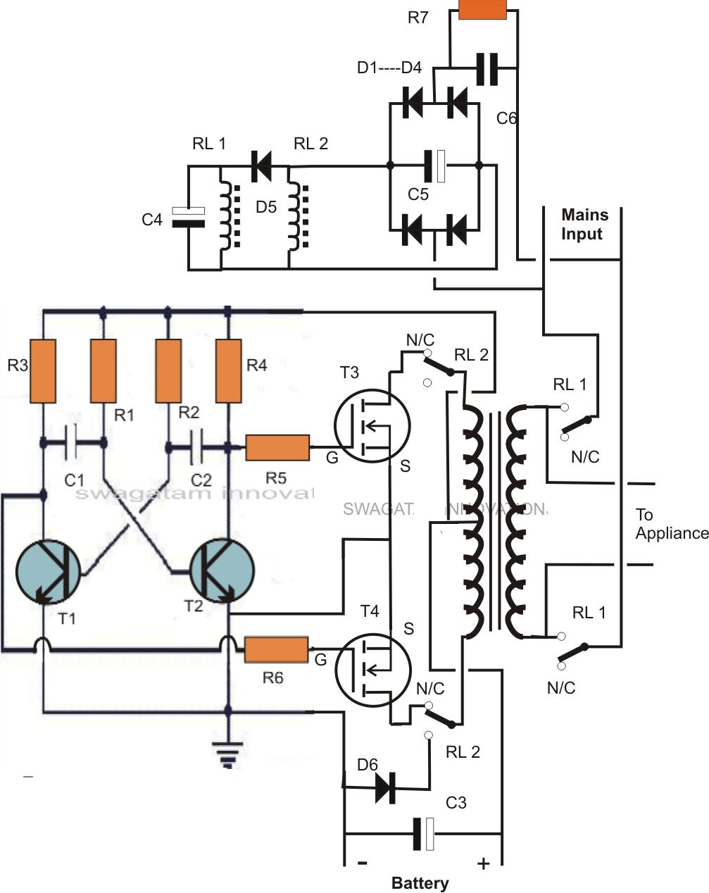 gt circuits gt single transformer inverterchargerchang