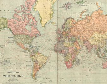 Vintage world map old world map vintage by modernismandvintage vintage world map old world map vintage by modernismandvintage gumiabroncs Image collections