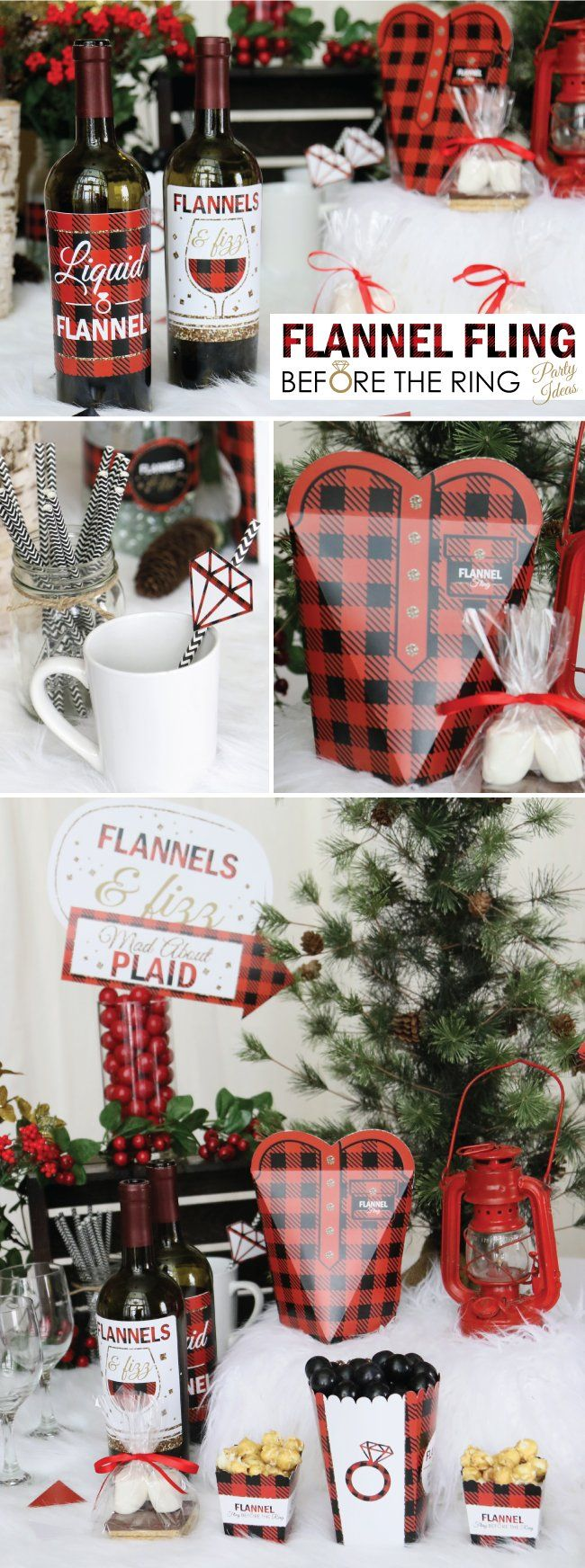 Flannels & Fizz - Plaid Bachelorette Party Ideas | Big Dot Of Happiness #bachlorettepartyideas