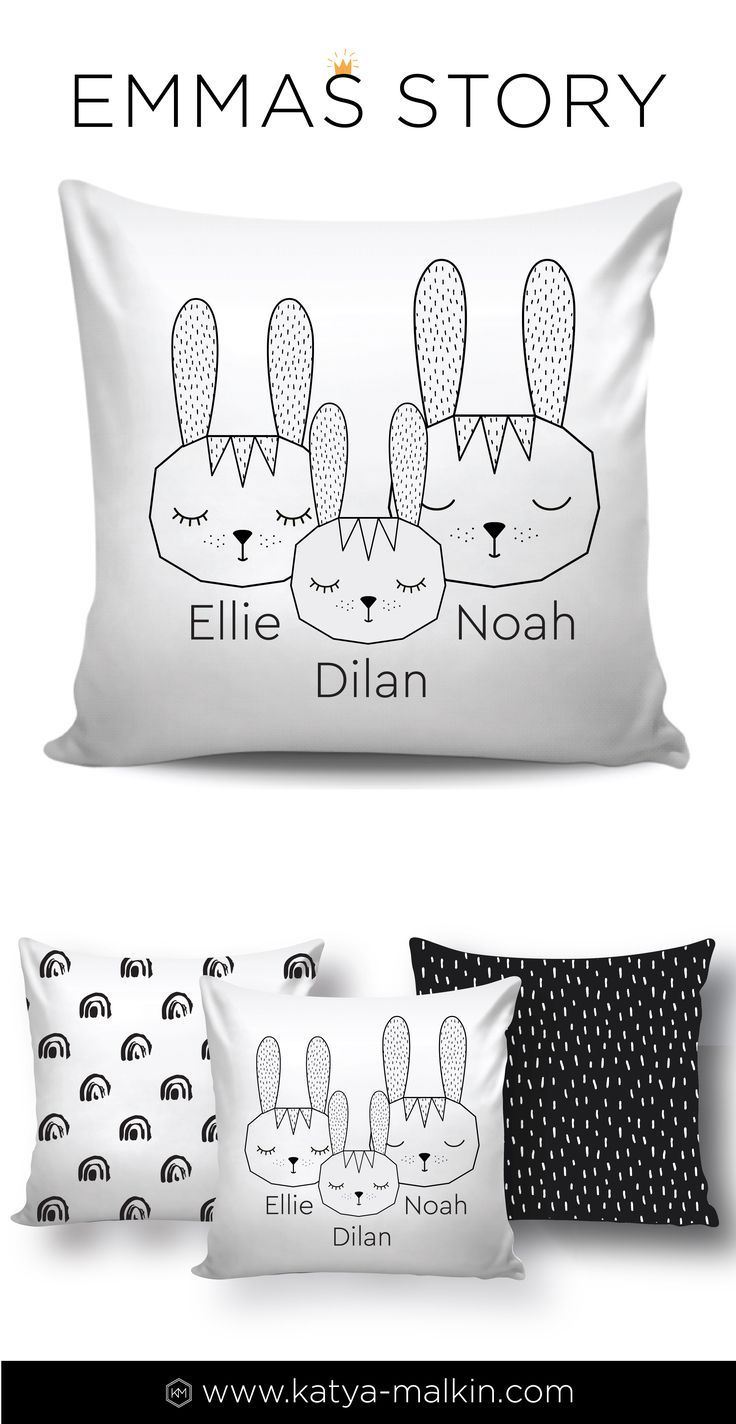 Cute bunny family personalized pillow easter gift woodland nursery cute bunny family personalized pillow easter gift woodland nursery decor custom name scandinavian pillow personalized baby shower gift birth negle Choice Image