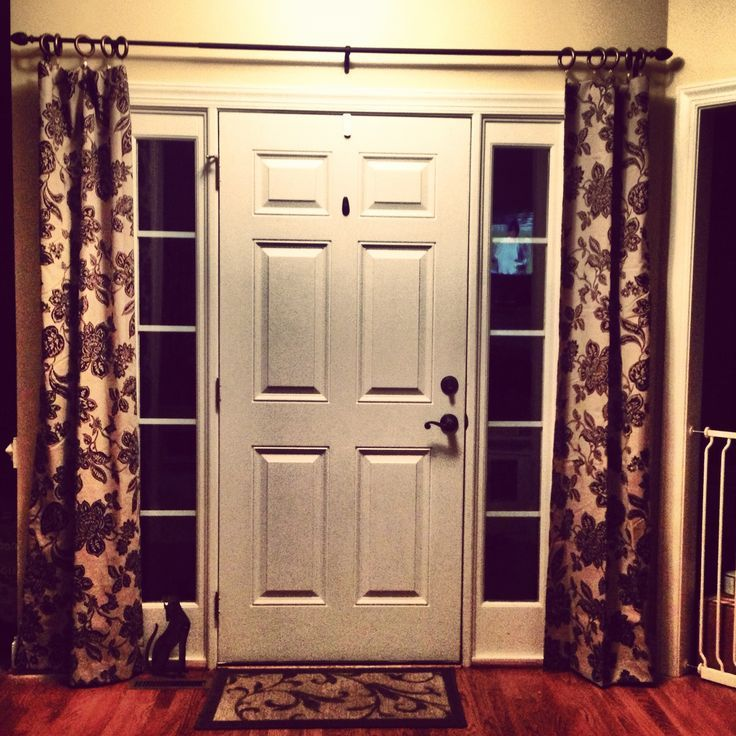 Front Door Sidelight Window Treatments Window Treatments Design Ideas In 2020 Front Doors With Windows Sidelight Curtains Front Door Curtains