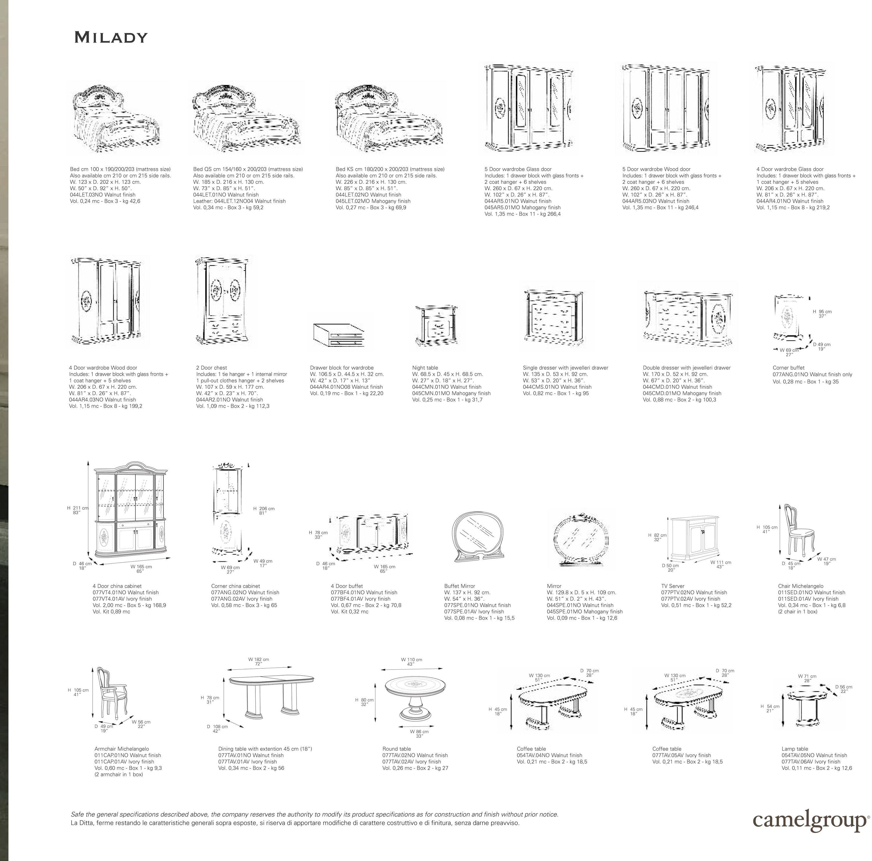 Standard Bedroom Furniture Dimensionsmilady Walnut Classic