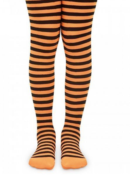 a385b3aaba3b2 Halloween Tights Orange Black Stripes Striped Kids #Jefferies #Tights