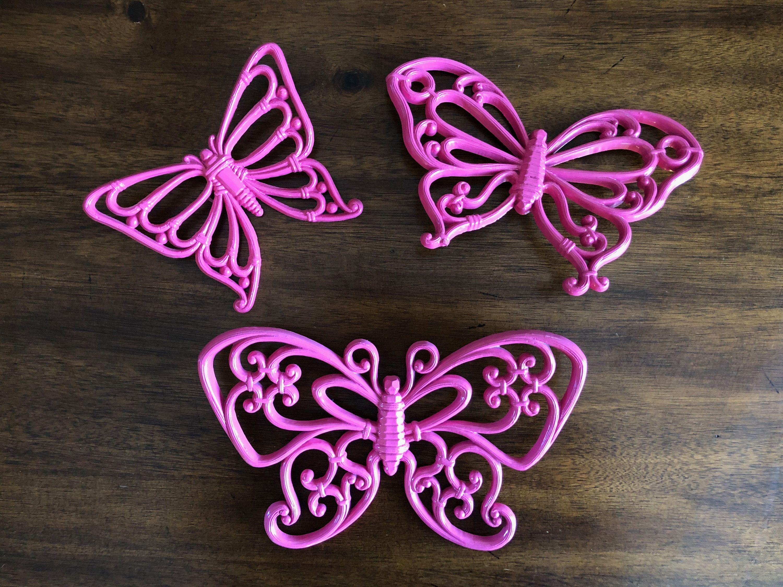 Park Art My WordPress Blog_Framed Butterfly Wall Art Pink