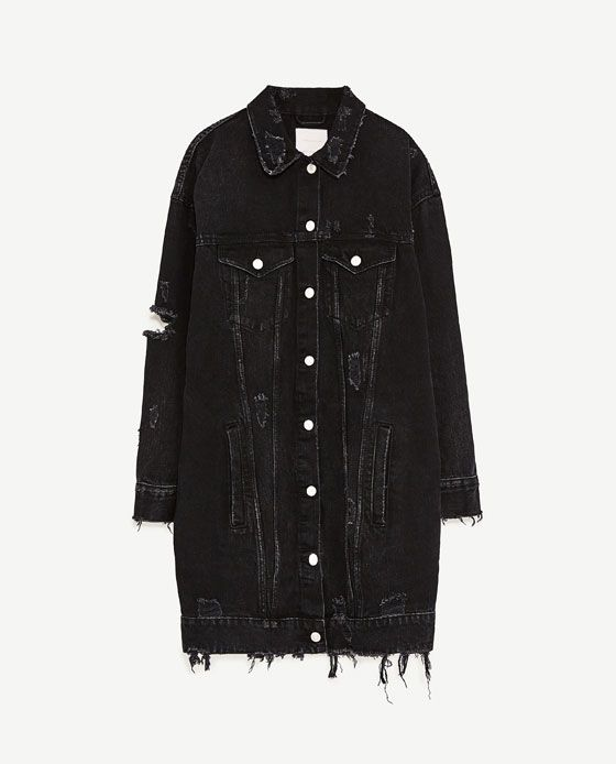 Imagen 6 de CAZADORA DENIM LARGA de Zara | Clothes