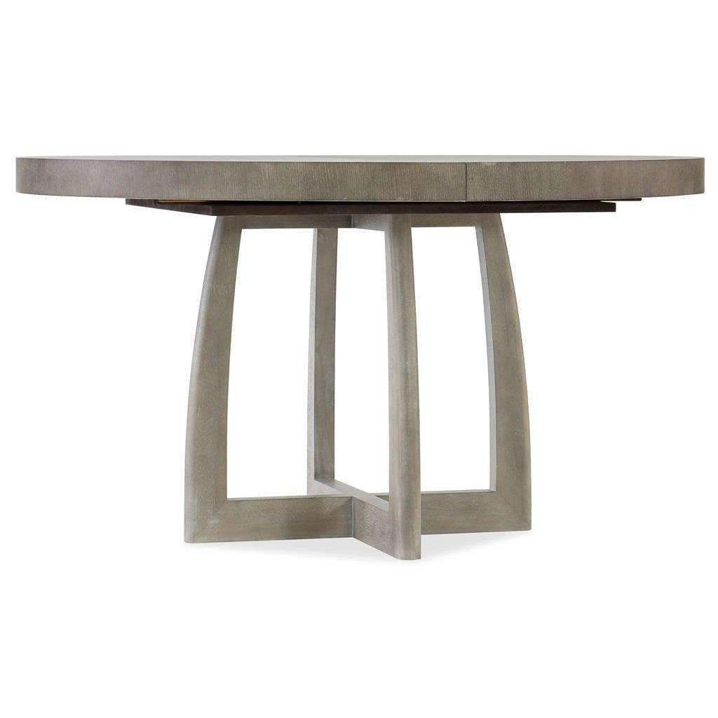 """Affinity 48"""" Round Pedestal Dining Table with 1 x 18"""" LeafDefault Title"""