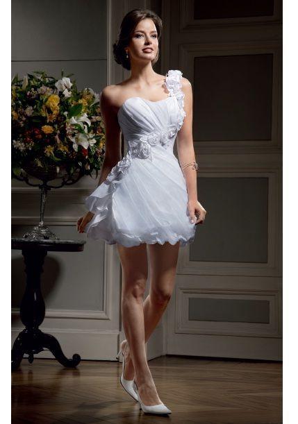 Vestidos de novia cortos y pegados