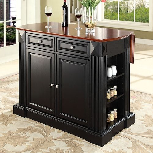 Crosley Furniture 3 Piece Kitchen Island Amp School House Counter Chair Set In 2019 Drop Leaf