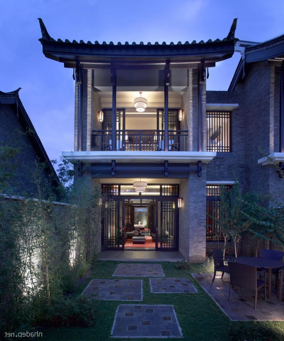 Asian house design chinese style two storey with large for Asian style house plans