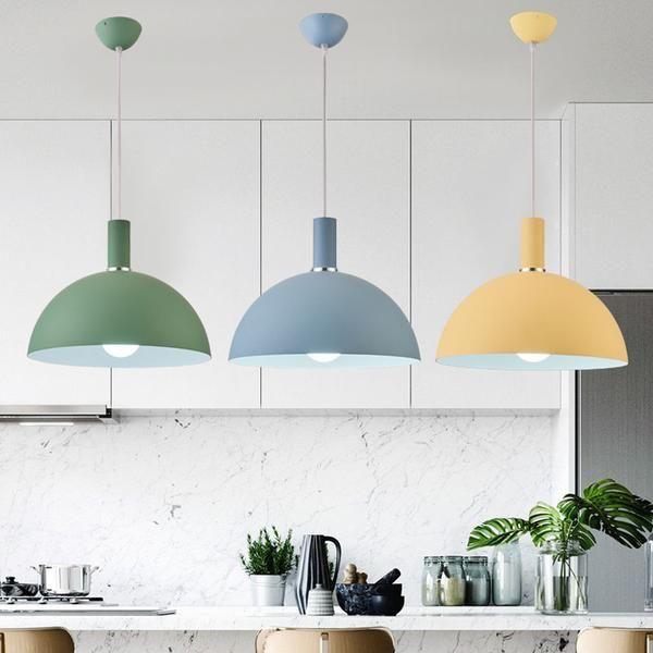Modern Nordic Round Lampshade Hanging Light | Round hanging