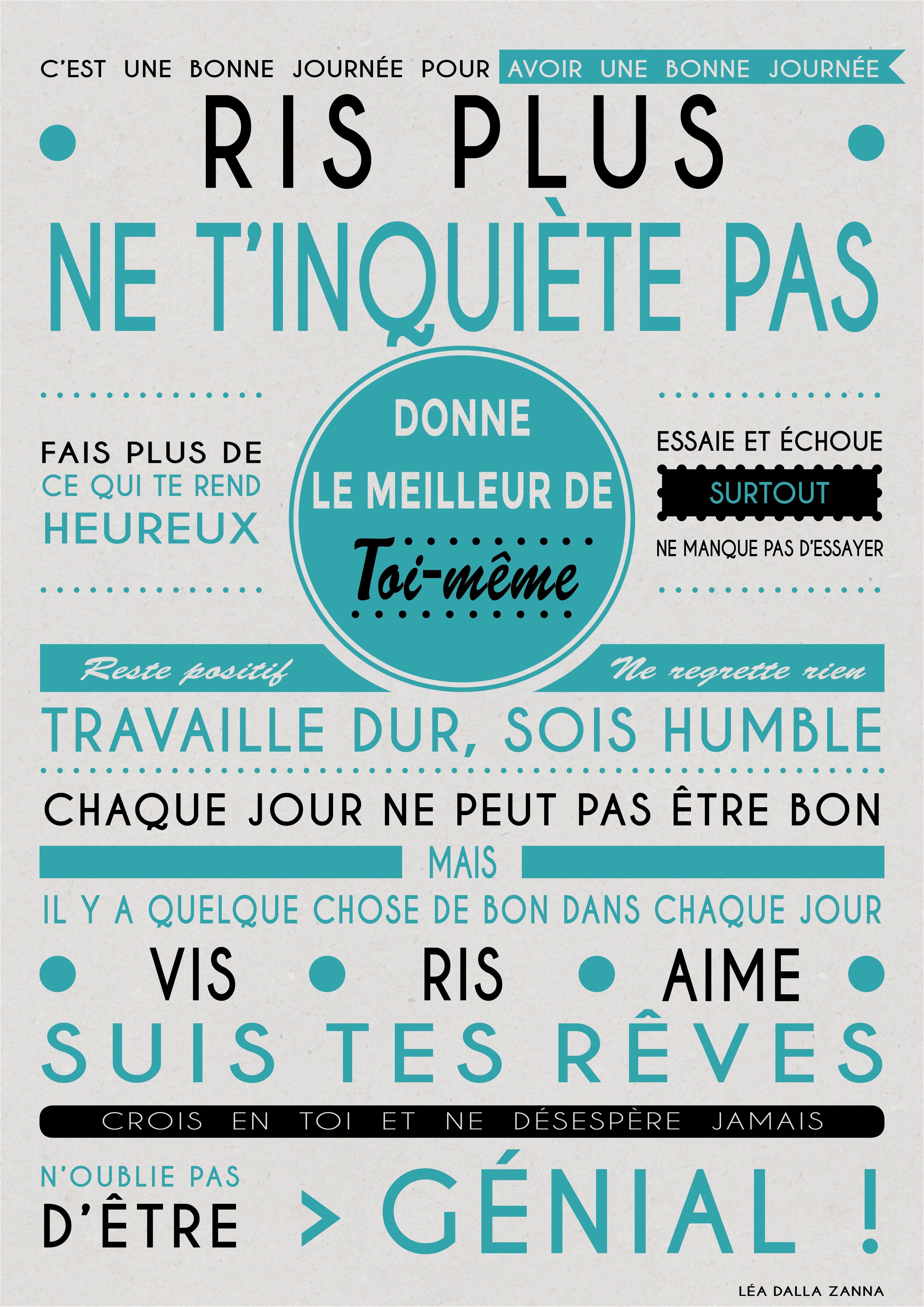 Affiche pour donner la bonne humeur le matin :) | Idees | Frases