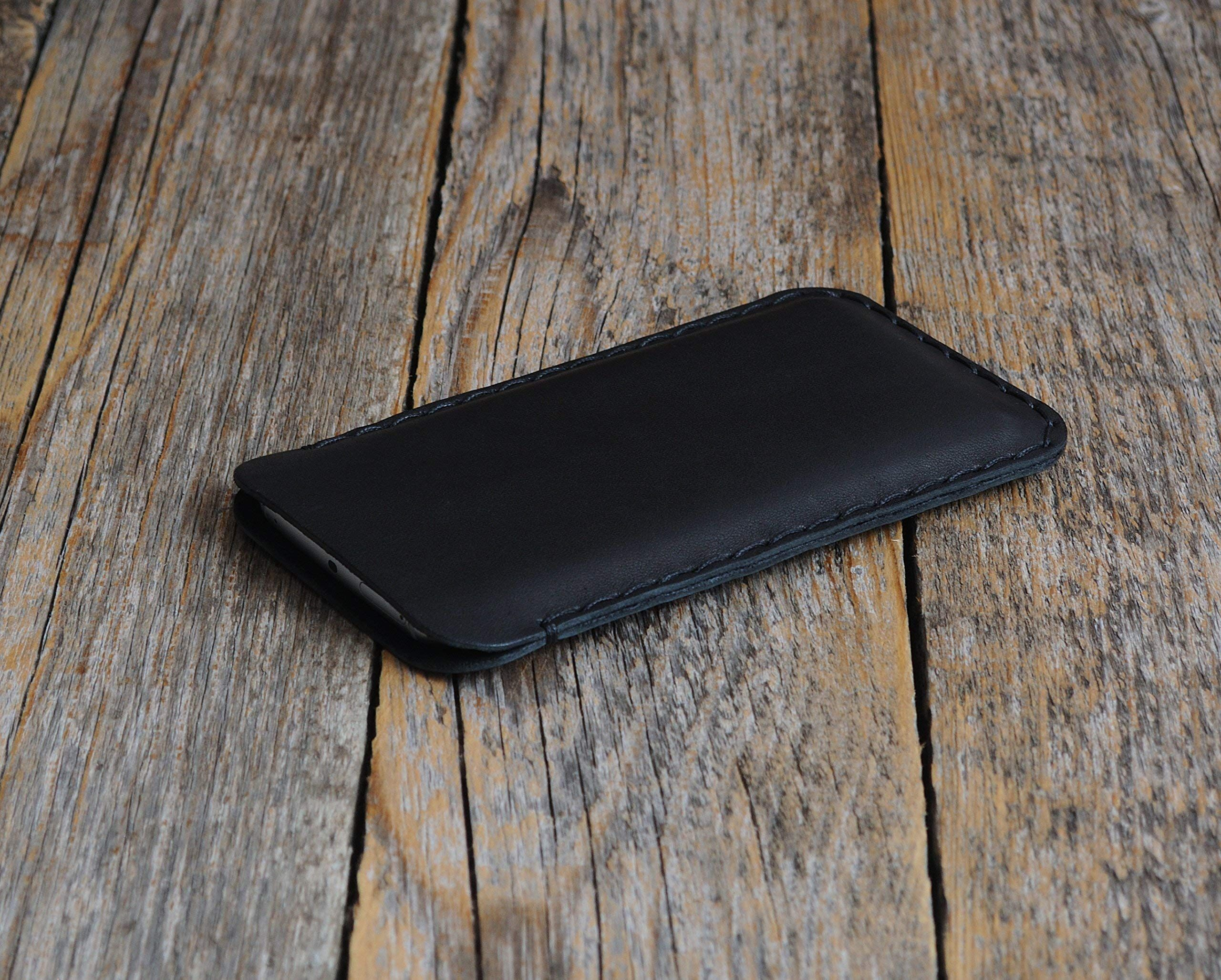 Funda de cuero para iPhone XR caja bolsa case cover estuche de manga