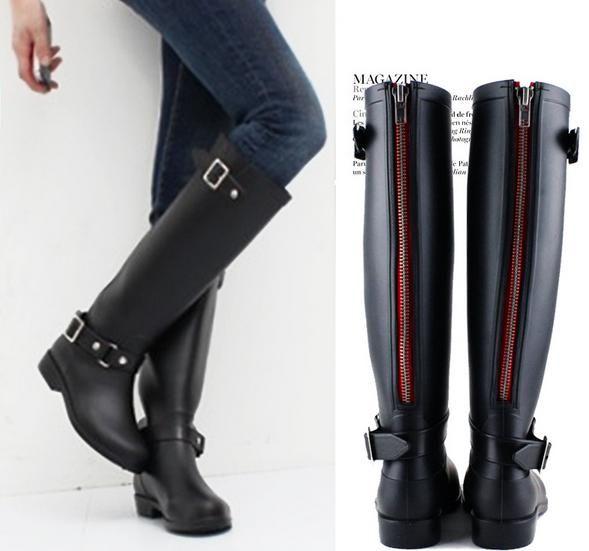 bfd4b2ed Botas de agua baratas - Botas altas con cremallera. Botas de agua baratas -  Botas altas con cremallera Botas Para Lluvia Mujer ...