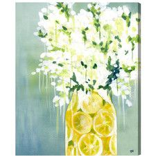 Limoncello Graphic Art on Wrapped Canvas