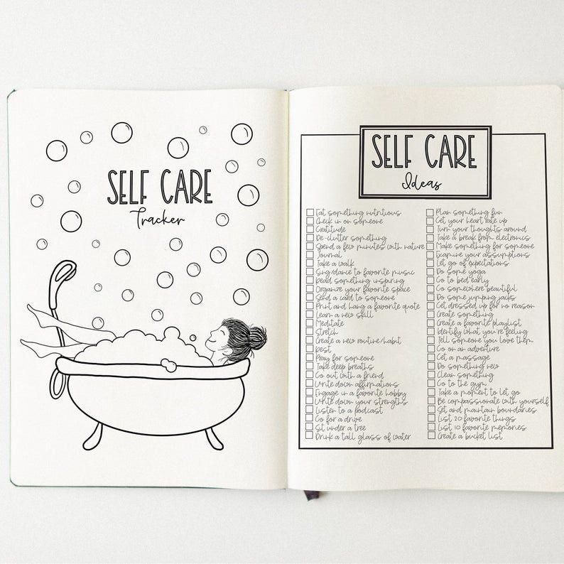 Self-care Tracker Bullet Journal Habit Tracker