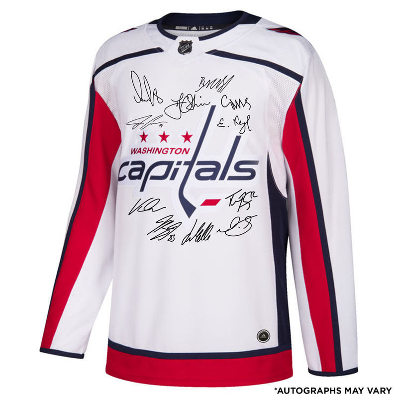 Washington Capitals Fanatics Authentic 2018 Stanley Cup Champions  Autographed White Adidas Authentic Jersey with Multiple Signatures -  Limited Edition of ... 5caed13b4