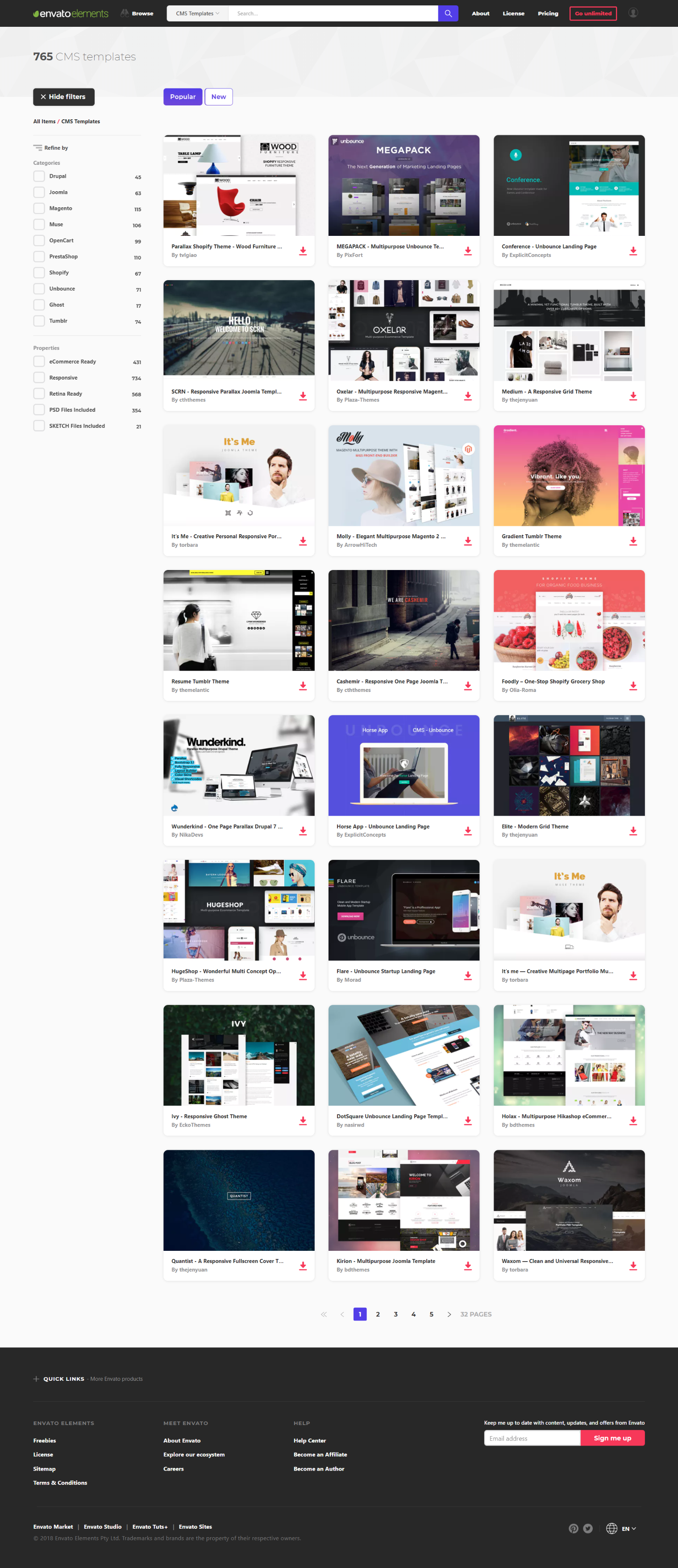 Envato Elements Is Must Have For Every Web Designer Or Developer Unlimited Collection Of Cms Templates Themes Ph Web Design Inspiration Web Design Templates