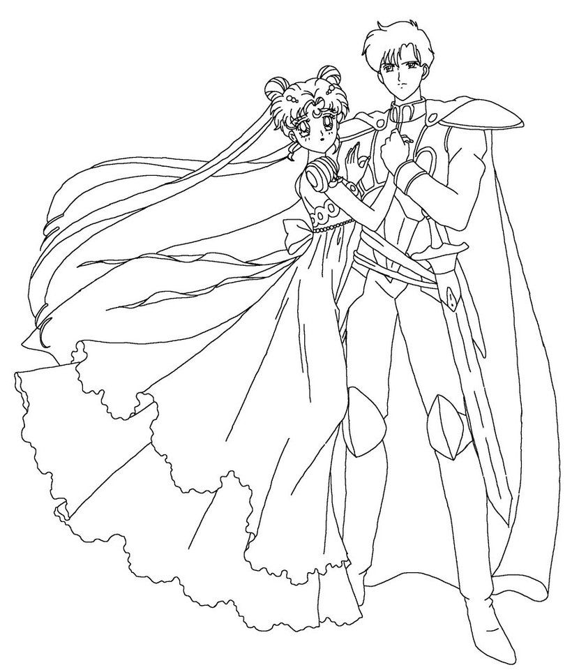 Serenity And Endymion Coloring Page By Sailortwilight Sailor Moon Coloring Pages Moon Coloring Pages Sailor Moon