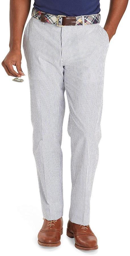 Milano Fit Seersucker Trousers Seersucker Pants Seersucker