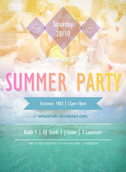 Free Summer Party Flyer Psd Template  HttpFreepsdflyerCom