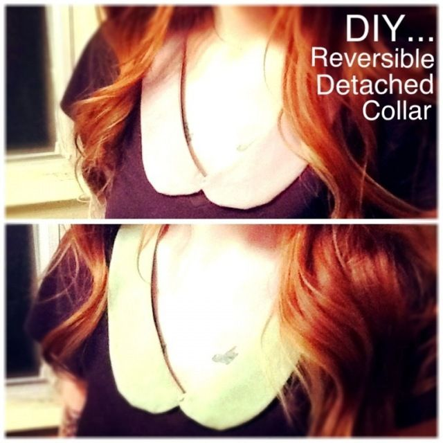DIY reversible detached collar