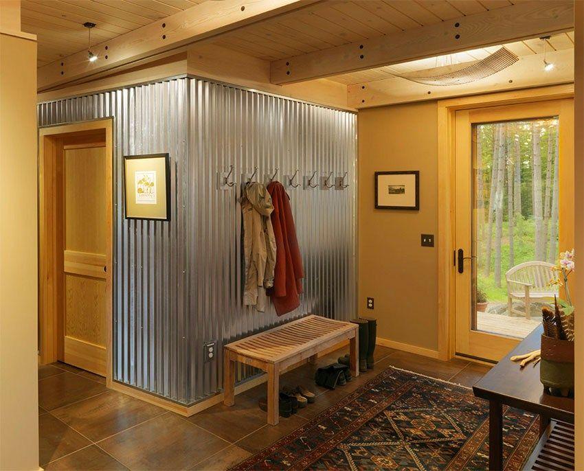 Creative Ways To Use Corrugated Metal In Interior Design Garage WallsLaundry Room Ideas
