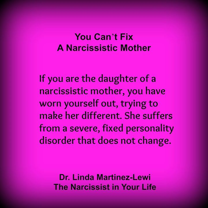 Narcissistic personality disorder daughter