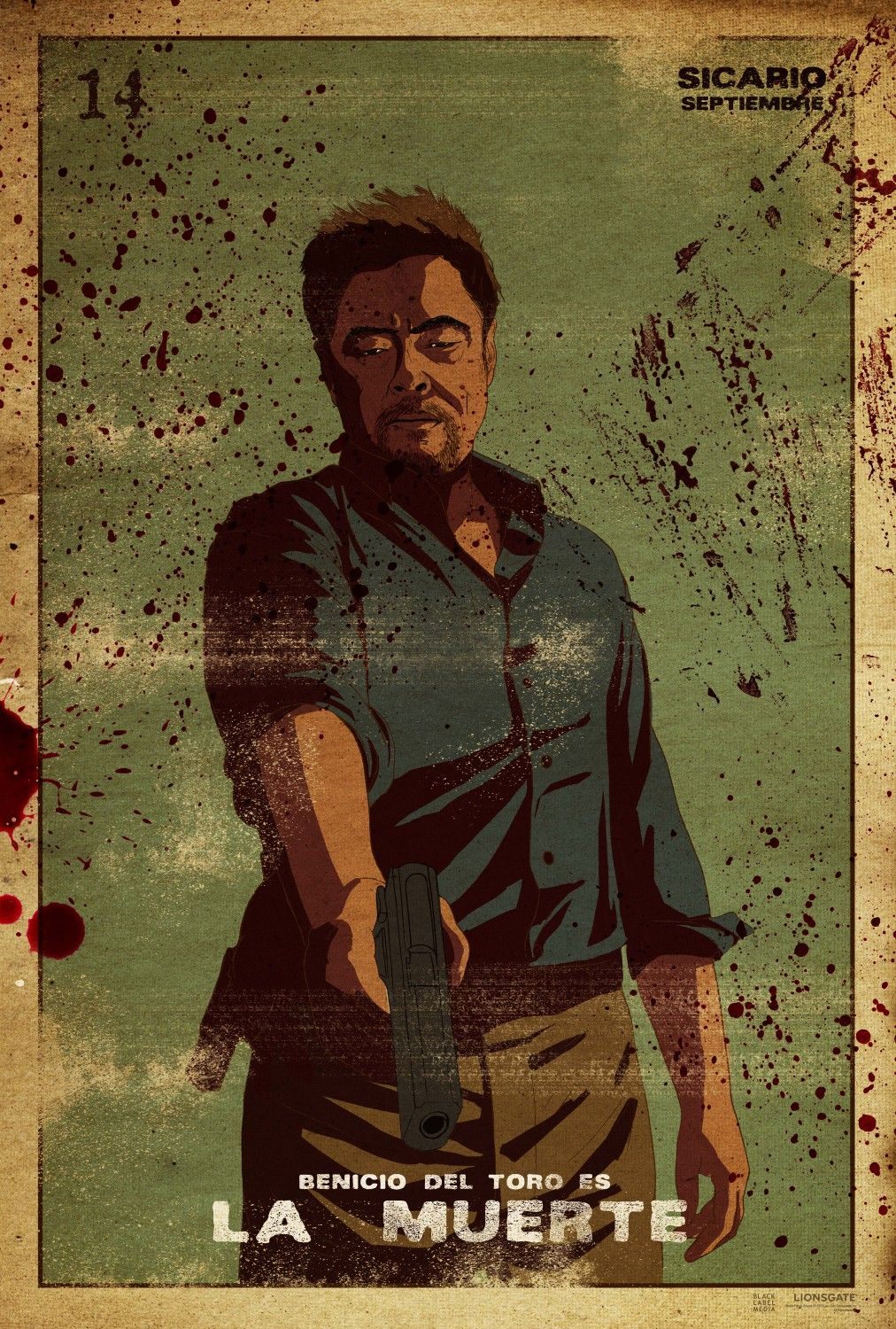 Extra Large Movie Poster Image For Sicario Movie Posters Poster Movie Art