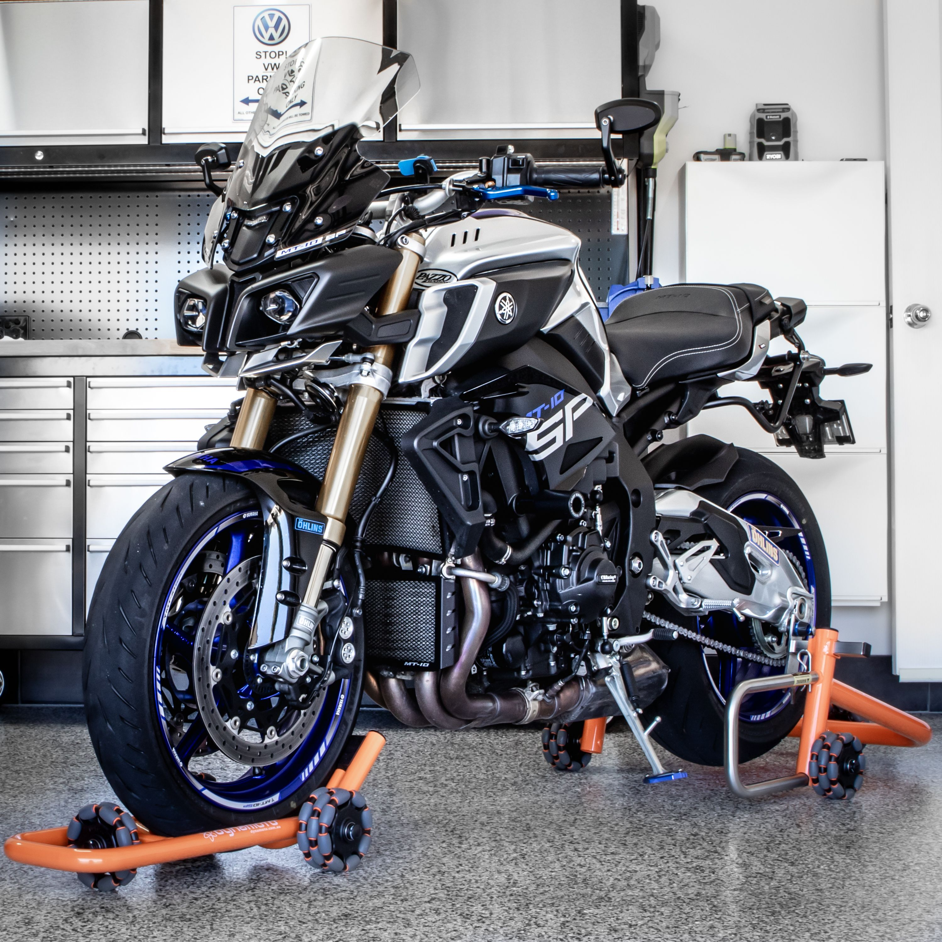 Rolling Motorcycle Stands Dynamoto Yamaha Mt 10 Sp