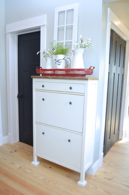 A Simple Ikea Hemnes Shoe Cabinet Hack Repurposed Ikea Hemnes