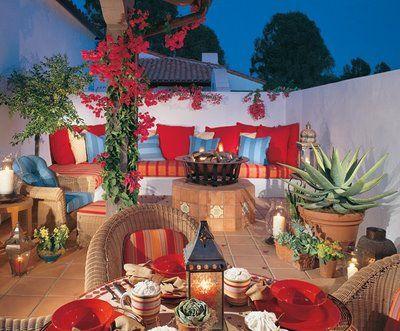 Decor To Adore: Spanish Colonial Interiors | Mexican patio ... on Mexican Backyard Decor id=93109