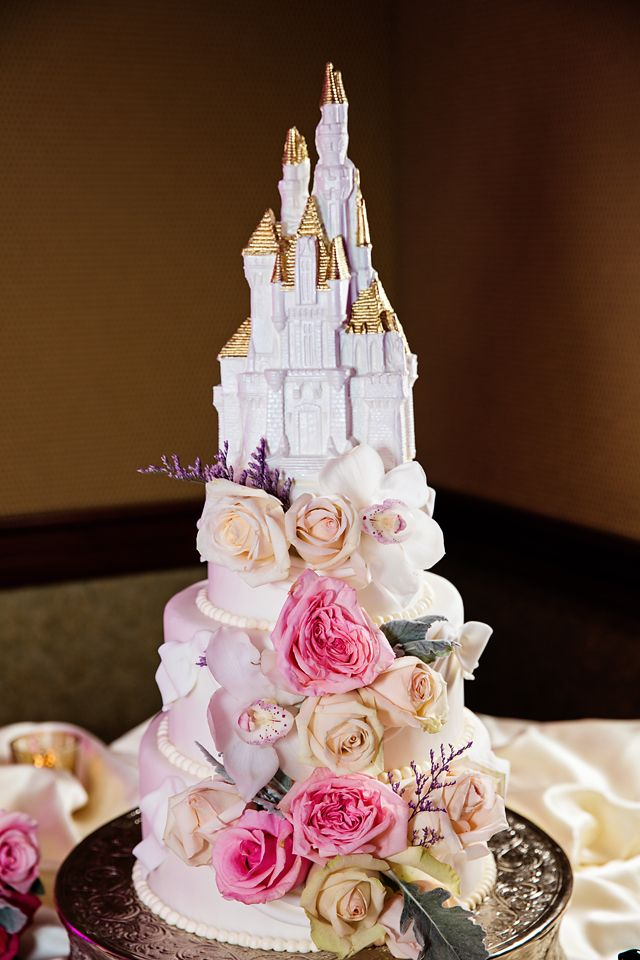 Our Hearts Are Melting For This Disneyland Castle Cake Dripping In Pinks And Pastels