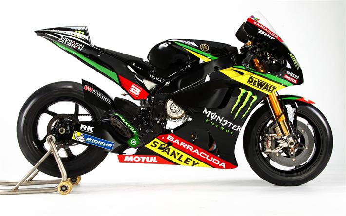 Download Wallpapers Monster Yamaha Tech3 4k Superbikes 2017 Bikes MotoGP