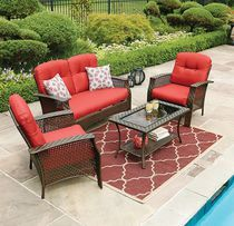 hometrends Tuscany 4 Piece Conversation Set Red $496.00