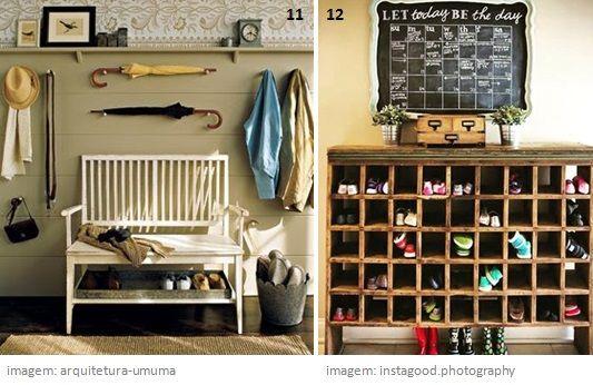 12 Boas ideias para sapateiras no Hall de Entrada  www.ohdecasaa.com