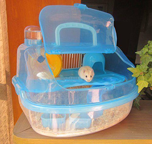 Favorite Hamster Habitat Cage Travel Portable Pet Carrier Large