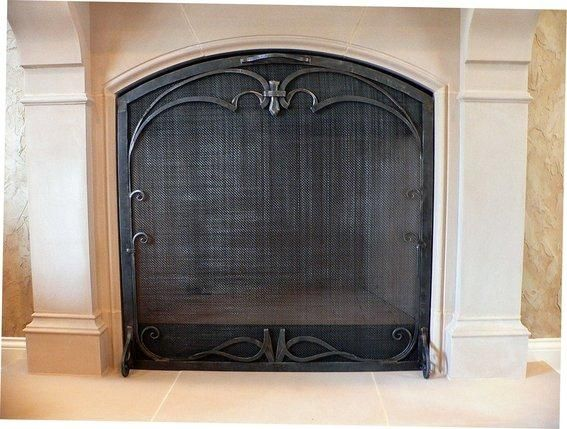 Custom Fit Fire Screen For An Elegant Fireplace Custom Fireplace
